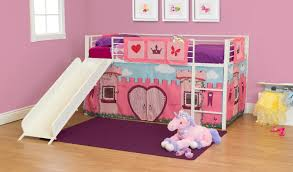 Princess Bunk Bed With Slide Dhp Furniture Princess Fairytale Sleep And Slide Curtain Set