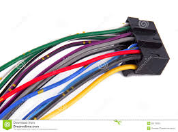 car audio system wiring cable royalty free stock images image
