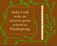 thanksgiving acrostic poem for promethean board poem and