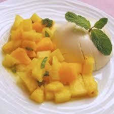 panna cotta hervé cuisine panna cotta au lait de coco salade de mangue ananas