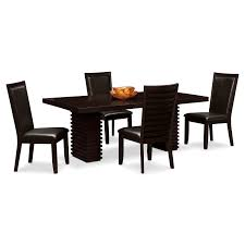 Dining Room Sets 4 Chairs Paragon Table And 4 Chairs Merlot And Brown American Signature