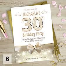 birthday invitations 18th 21st 30th 40th 50th personalised