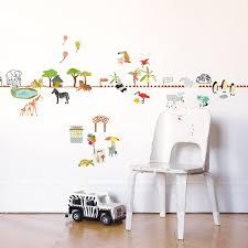 frise adhésive chambre bébé frise adhésive balade au zoo 5 m mimi lou