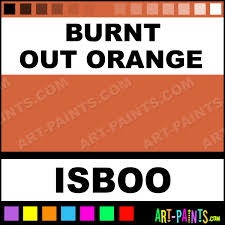 burnt out orange color tattoo ink paints isboo burnt out