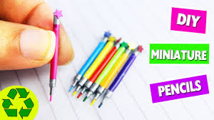 diy miniature working color pencils easy doll crafts