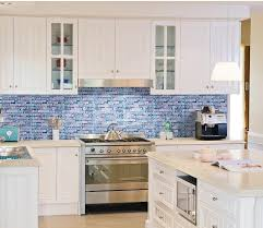 tile pictures for kitchen backsplashes blue glass backsplash tile home designs idea