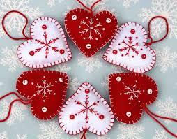 Christmas Decorations Best 25 Heart Ornament Ideas On Pinterest Felt Hearts Felt