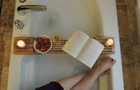 how bamboo bathtub caddy can improve bath experience relax and enjoy reading good book without worrying about getting wet with bathtub