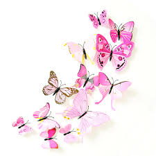 home decor 3d stickers 12pcs 3d butterfly sticker art design decal wall decals kids home