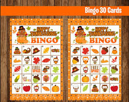 printable 30 thanksgiving bingo cards printable harvest bingo