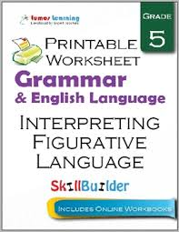 interpreting figurative language printable worksheet grade 5 by