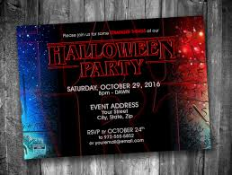 scary halloween party invitations 31 best stranger things party images on pinterest halloween