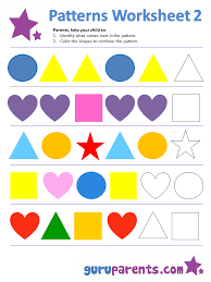 pattern worksheets guruparents