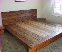 Wooden Platform Bed Frame Luxurious Solid Wood Platform Bed King In Frame Addventures Co