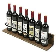 amazon com mygift wall mounted wine bottle holder rack rustic