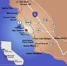 santa barbara california map california map santa barbara map travel holidaymapq com