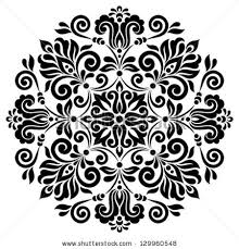 ornamental floral pattern colorful ornament stock vector