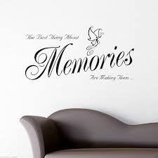 memories wall art sticker lounge room quote decal mural stencil memories wall art sticker lounge room quote decal