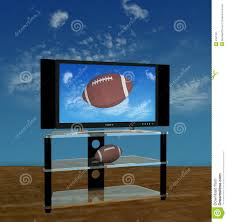 hdtv football in fall sky stock image image 2941391