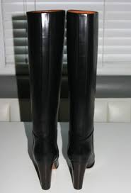 womens boots size 9 5 celene black knee high leather boots brand in box