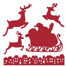 edition christmas dies sleigh u0026 reindeer dies cutting dies 5 pieces