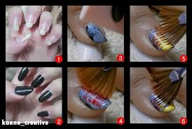 nail art fan brush technique u2013 her creative palace