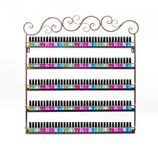 dazone nail polish wall rack 5 layer organizer holds 100 bottles