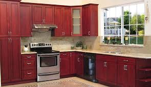 kitchen and bath cabinets by woodson u2013 cherry burgundy cabinets