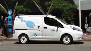 nissan cargo minivan driving nissan e nv200 all electric small commercial van