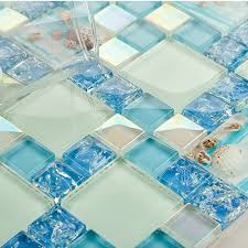 blue glass kitchen backsplash blue glass mosaic tile backsplash crackle glass resin