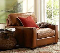 Leather Sofa And Armchair Turner Square Arm Leather Armchair Pottery Barn