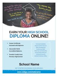online high school flyer earn your high school diploma online