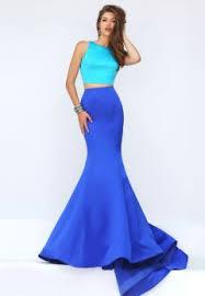 Light Blue Mermaid Dress Halter Light Blue Lace And Satin Two Piece Mermaid Long Prom Dress