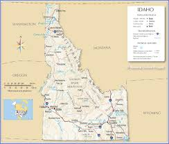 Continental Us Map Reference Map Of Idaho Usa Nations Online Project