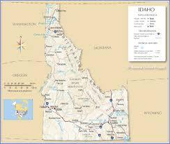map us idaho reference map of idaho usa nations project