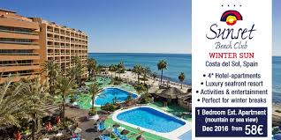 sunset club hotel for your winter sun senior times