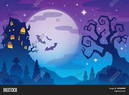 halloween sky background halloween topic background 1 eps10 vector illustration stock