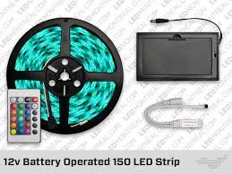 Led Strip Lights Battery Powered 12v Battery Powered 150 Led Strip With 24 Key Remote Led Montreal