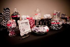 Black And White Candy Buffet Ideas by Candy Buffet Black And White With Fuschia Wedding Black Candy