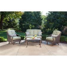 Settee Cushion Set by Patio Conversation Sets Outdoor Lounge Furniture The Home Depot