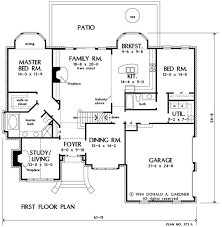 two floor plan house plan the mercer by donald a gardner architects
