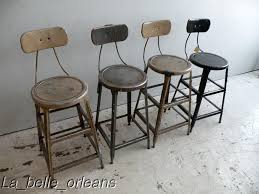 Vintage Industrial Bar Stool Set Of Four Metal Vintage Industrial Machinist Stools For Sale