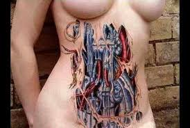 3d body ink biomechanical tattoos body modifications and 3d tattoos