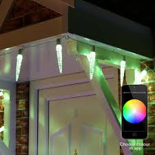 outdoor icicle lights with remote 20 colour changing leds