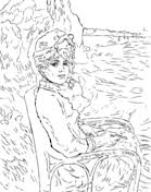 pierre auguste renoir self portrait coloring page free printable