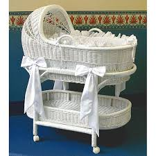 Wicker Crib Bedding La Baby Wicker Bassinet And Bedding Set Overstock Shopping Big