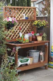 Garden Potting Bench Ideas Cool Wood Projects Bench Plans Bench And Easy