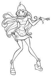 beautiful winx club flora coloring pages winx club
