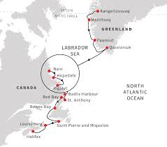 Map Of Newfoundland Canada by North America Cruises The Untouched Beauty Of Greenland