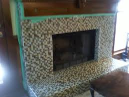 mosaic tiles fireplace beautiful home design interior amazing